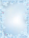 Frontera congelada vector de la Navidad Imagen de archivo libre de regalías