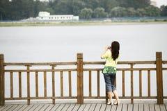 Frontera coreana 2011 del Chino-Norte Imagen de archivo libre de regalías