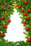Frontera creativa del árbol de navidad Imagenes de archivo