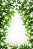 Frontera creativa del árbol de navidad fotos de archivo