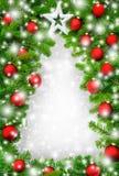 Frontera creativa del árbol de navidad Imagen de archivo libre de regalías