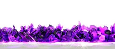 Frontera cristalina Imágenes de archivo libres de regalías