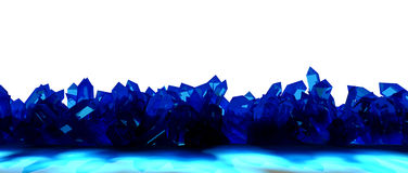 Frontera cristalina ilustración del vector