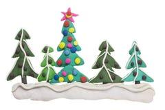 Frontera de abetos de la Navidad Fotos de archivo libres de regalías
