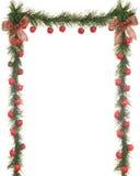 Frontera de Apple de la Navidad Imagen de archivo libre de regalías