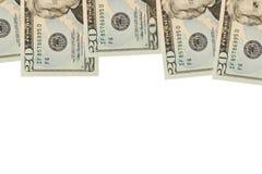 Frontera de Bill de dólar veinte Imagenes de archivo