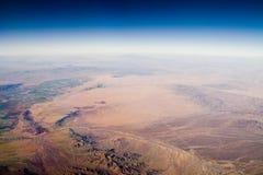 Frontera de California/de Arizona Fotografía de archivo libre de regalías