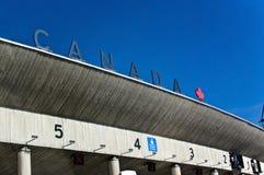 Frontera de Canadá imagenes de archivo