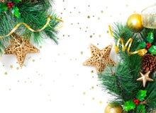 Frontera de Christmastime Imagen de archivo libre de regalías