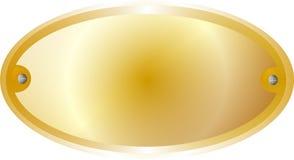 Frontera de cobre amarillo amarilla del metal Imagen de archivo libre de regalías