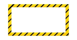 Frontera de cuidado de la construcción, ejemplo del vector aislado en el fondo blanco stock de ilustración