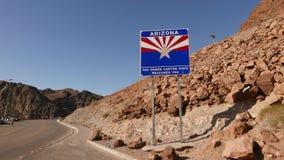 Frontera de estado de Arizona metrajes