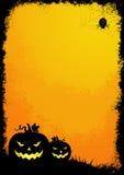 Frontera de Grunge víspera de Todos los Santos Fotografía de archivo libre de regalías