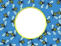 Frontera de la abeja Foto de archivo libre de regalías