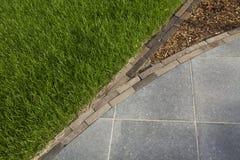 Frontera de la arquitectura del jardín Fotos de archivo