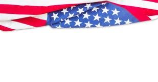 Frontera de la bandera americana aislada Fotos de archivo