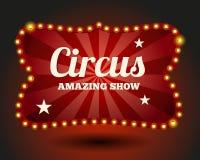Frontera de la bombilla del circo ilustración del vector