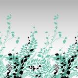 Frontera de la botánica ilustración del vector
