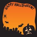 Frontera de la calabaza de Halloween Fotografía de archivo