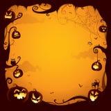 Frontera de la calabaza de Halloween para el diseño Imagen de archivo libre de regalías
