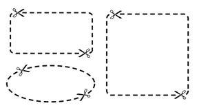 Frontera de la cupón stock de ilustración