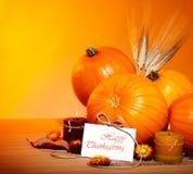 Frontera de la decoración del día de fiesta de acción de gracias Imagen de archivo libre de regalías