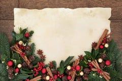 Frontera de la especia de la Navidad imagenes de archivo