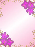 Frontera de la esquina floral del fondo stock de ilustración
