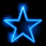 Frontera de la estrella azul con las chispas y los remolinos Imagenes de archivo