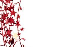 Frontera de la estrella de la Navidad Foto de archivo libre de regalías