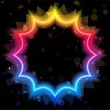 Frontera de la estrella del arco iris con las chispas Imagenes de archivo
