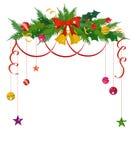 Frontera de la Feliz Navidad y marco de la decoración Fotografía de archivo