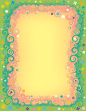 Frontera de la flor del remolino Imagen de archivo libre de regalías