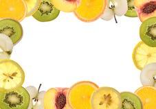Frontera de la fruta imagen de archivo libre de regalías