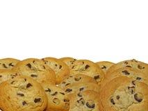 Frontera de la galleta de viruta de chocolate Imágenes de archivo libres de regalías