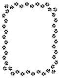 Frontera de la impresión de la pata del lobo ilustración del vector