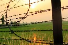 Frontera de la India Paquistán Imagen de archivo libre de regalías