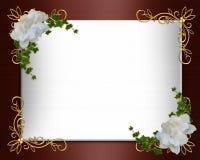 Frontera de la invitación de la boda elegante Fotos de archivo