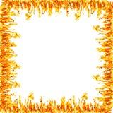 Frontera de la llama del fuego Imagen de archivo libre de regalías