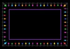 Frontera de la luz del resplandor de la Navidad Fotos de archivo libres de regalías