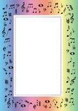 frontera de la música Foto de archivo