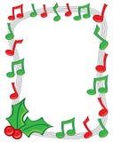 Frontera de la música del día de fiesta Foto de archivo libre de regalías
