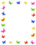 Frontera de la mariposa Imagen de archivo
