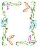 Frontera de la mariposa Foto de archivo libre de regalías