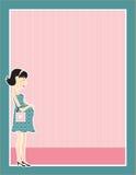 Frontera de la mujer embarazada Foto de archivo