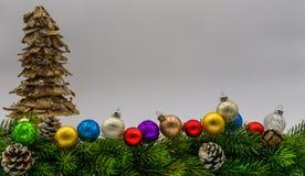 Frontera de la Navidad fotografía de archivo