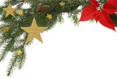 Frontera de la Navidad imágenes de archivo libres de regalías
