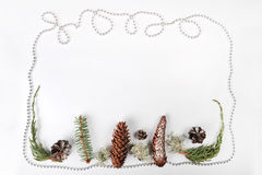 Frontera de la Navidad fotografía de archivo libre de regalías