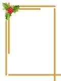 Frontera de la Navidad/barras de oro ilustración del vector