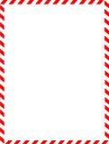 Frontera de la Navidad/bastón de caramelo Fotografía de archivo